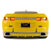 Polished Rear Laser Mesh Valance Trim For 2010-13 Camaro Rs W/rs Ground Effects