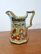 Buffalo Pottery Deldare Their Manner Of Telling Stories Pitcher - Beautiful
