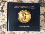 2009 Ultra High Relief Double Eagle Gold Coin Book Excellent Condition Book Only