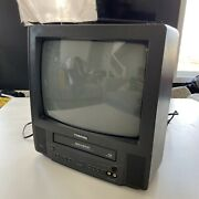 Toshiba Mv13kc3r 13 Tv Vcr Vhs Tape Player Combo Gaming Tested - No Remote