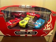 Disney Store Cars Mcqueen-o-rama Set With Dragon Mcqueen Diecast 5 Pack New