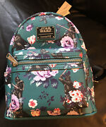 Loungefly Mini Backpack Star Wars Floral Aop Darth Vader Limited Edition Nwt Dis