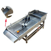 Electric 220v Full Stainless Linear Vibrating Screen 6mm Hole Size Screener Deck