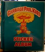 1985 Garbage Pail Kids Sticker Album Imperial Toy Topps + Free Pack Of 7th Os