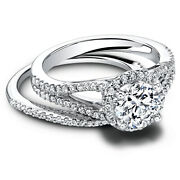 Solid 950 Platinum Rings 1.10 Ct Real Diamond Anniversary Band Set Size 6 7 8 9