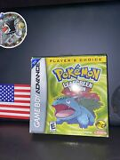 Pokemon Leaf Green Version Game Boy Advance, 2004 Cib -tested And Works