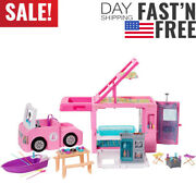 barbie 3-in-1 Dreamcamper Vehicle Approx. 3-ft Transforming Camper With Pool