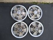 66 67 Dodge Mag Hub Caps 14 Set Of 4 Wheel Covers 1966 1967 Mopar Hubcaps
