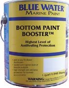 Blue Water Marine Bottom Paint Booster Slime Control Additive Pint New