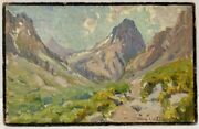 Benjamin Chambers Brown Sierra Nevada Ca Mountain Landscape 1920s Listed Signed