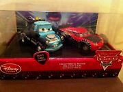 Disney Store Cars Exclusive Heavy Metal Mater 2-pack Diecast New In Box