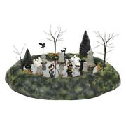 Dept. 56 Halloween Village Animated Ghosts In The Graveyard 6005552 New