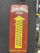 Vintage Donasco 1951 Drink Royal Crown Cola Thermometer /metal Sign 26