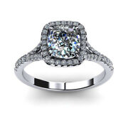 0.80 Ct Beautiful Diamond Engagement Rings Solid 14k White Gold Size 6 7