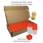 American Gold Eagle 1oz, Square Coin Tubes By Guardhouse, 50 Pk