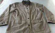 Lands End Mens Flannel Lined Barn Work Chore Jacket Coat Brown Xlt Large Tall