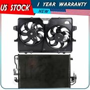 Engine Cooling Fan And Ac Condenser Assembly For 2008 2009-2011 Mercury Mariner