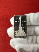 Water Tower First National Bank Of Chicago 1oz .999 Silver Art Bar