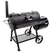 Highland Offset Charcoal Smoker/grill In Black
