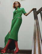 Green Tweed Dress- With Tags- Rrp4900 Aud