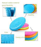 Pet Frisbee Flyer Natural Rubber Disc For Super Chewers For Large Breed Dogs