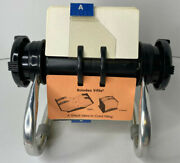 Vintage Rolodex Model 5024x- Aluminum Rotary Frame W/ Index Tabs Business Cards