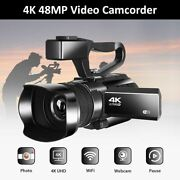 Komery New Arrival 4k Video Camcorder Live Streaming For Youtube 48mp Wifi 30x D