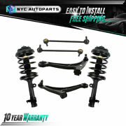 6pc Front Struts+lower Control Arms W/ Ball Joint+sway Bar For 06-08 Honda Pilot