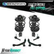 6pc Front Struts+ Lower Control Arms+ Outer Tie Rods For 01-04 Town And Country