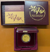 2020 End Of World War Ii 75th Anniversary Gold Proof Medal Original Packaging