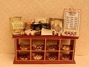 Dolls House Food1/12th Ooak Shabby Chic Chocolate Shop Display Counter -by Fran