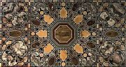 30 X 60 Inches Stone Work Inlaid Dining Table Top Hand Made Conference Table Top