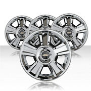 Revolve 20x8.5 Cladded Chrome Wheel For 2009-2013 Chevy Avalanche Set Of 4