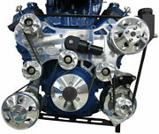 Bb Chevy Crossover Style Serpentine Drive Kit Single Stage W/power Steering