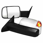 Premium Fx Chrome Power/heated Towing Mirrors For 2010-2011 Dodge Ram 2500/3500
