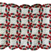 Vintage Wedding Ring Christmas Quilt Wall Hanging