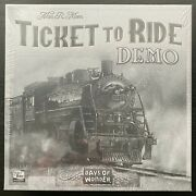 Ticket To Ride - Demo - New In Shrink - Unopened - Ultra-rare Collectible