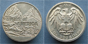 Swiss Of America 5 Oz .999 Silver Round Mountains/eagle Draper Mint Thick Rolo
