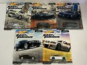 Fast And Furious Euro Fast 5 Car Set Hot Wheels Real Riders 164 Gbw75 979k