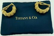 Authentic And Company18kt Yellow Gold Large Clip On Earrings1980and039swow