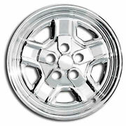 Premium Fx Chrome 16-inch Wheel Skin Covers Set Of 4 For 2007-09 Jeep Patriot