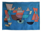 Paul Klee Sailing Boats Inspired Hand Woven Silk Area Rug Wall Rug 4andprime5andprime X 5andprime11andprime