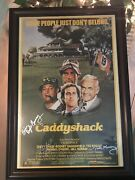 Caddyshack 24x36 Framed Movie Poster Signed B Mirray C Chase Bd Murray. Mokeef