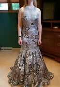 Dave And Johnny Prom Dress Satin With An Embroidered Netting Overlay. New With Tag
