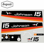 Johnson 1974 15hp Replacement Outboard Decals/stickers