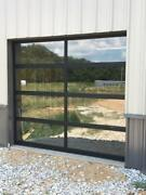 Full View [8and039 X 7and039] Black Anodized Aluminum And Tempered Clear Glass Garage Door
