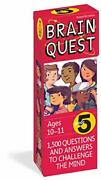 Brain Quest 5th Grade Qanda Cards 1,500 Questions And Answers To Challenge The...