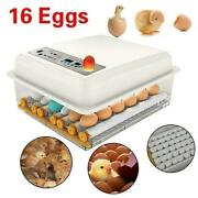 16eggs Incubator Poultry Digital Hatcher Automatic Turning Duck Goose Hatching