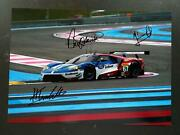 Chip Ganassi Ford Gt Prologue Paul Ricard 2016 Signed By Johnson Mucke Pla