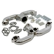 Smoothie Rams Horn Exhaust Manifolds, Small Block Chevy, Chrome